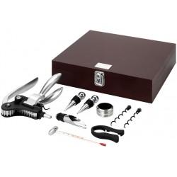 Луксозен комплект за вино с 9 части луксозна подаръчна кутия Avenue