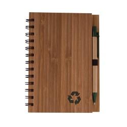 Бамбуков еко бележник с еко химикалка