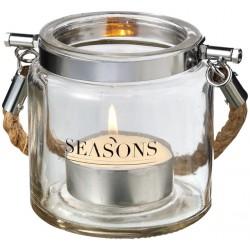 Луксозен стъклен фенер за чаени свещи Seasons