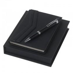 Луксозен бизнес комплект Ruby Saffiano / Christian Lacroix включващ кожен бележник А6 и метален химикал
