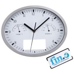 Стенен часовник с термометър и хидрометър с елипсовидна форма