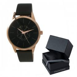 Стилен луксозен ръчен часовник Seal Brown - Christian Lacroix