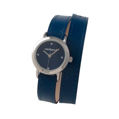 Елегантен дамски часовник с кожена каишка Blossom Bleu - Cacharel