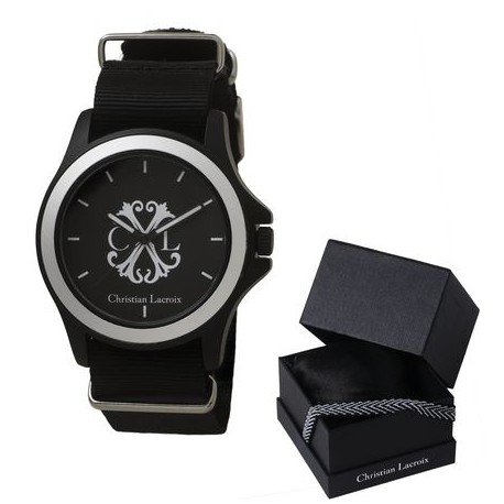 Стилен мъжки часовник Reverse Black - Christian Lacroix