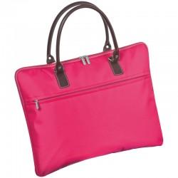 Найлонова бизнес чанта с кафеви дръжки