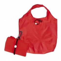 Сгъваема пазарска чанта с пластмасов карабинер