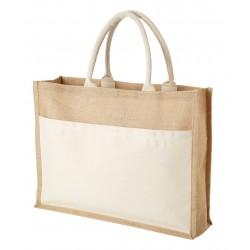 Голяма пазарска чанта от юта
