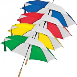 Автоматичен двуцветен чадър с права дръжка