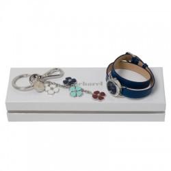 Луксозен комплект ръчен часовник и ключодържател Cacharel