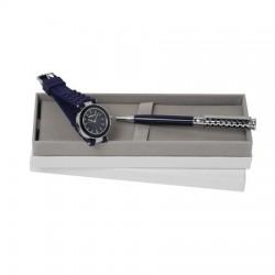 Луксозен комплект ръчен часовник и химикал Colombes / Cacharel
