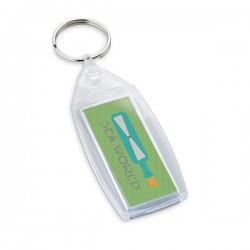 Плосък пластмасов ключодържател за брандиране