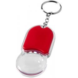 Пластмасов ключодържател с LED лампичка и лупа