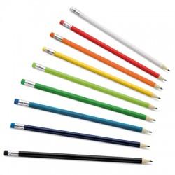 Рекламен комплект 12 дървени моливи с гумичка