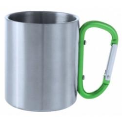 Метална чаша от неръждаема стомана с цветна дръжка карабинер