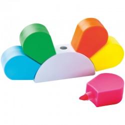 Рекламна поставка с 5 цветни маркера
