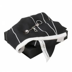 Луксозен дамски комплект шал и ключодържател Jean Louis Scherrer
