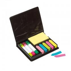 Комплект цветни лепящи листчета в кутия