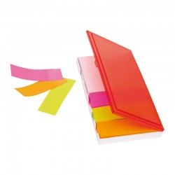 Комплект цветни мемо листчета в пластмасова кутийка