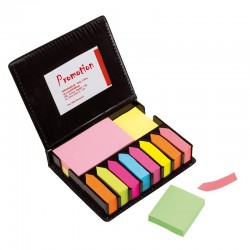 Голям комплект цветни мемо листчета в кутия