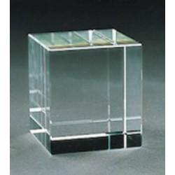Рекламен кристален куб за гравиране