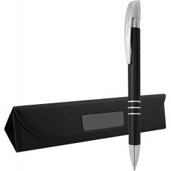 Метална химикалка в кутийка от изкуствена кожа