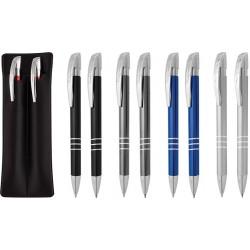 Рекламен комплект химикалка и автоматичен молив в кожен калъф