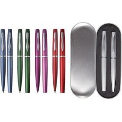 Комплект химикалка и ролер в метална кутийка