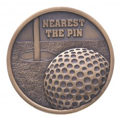 Тематичен медал за награждаване на голф състезания диаметър 70 мм