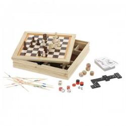 Рекламен комплект съдържащ 7 игри в дървена кутия
