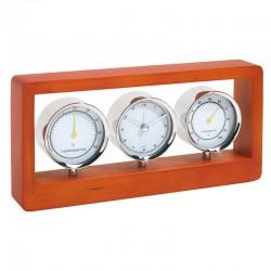 Елегантен настолен часовник с термометър и хидрометър