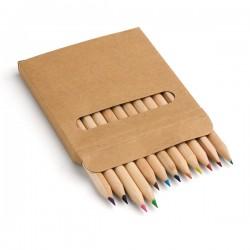 Комплект 12 цветни моливчета в картонена кутийка