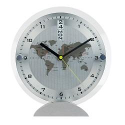 Настолен часовник с карта на света