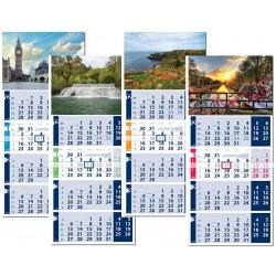 Рекламен работен календар с четирисекционно тяло Гранд Лайт