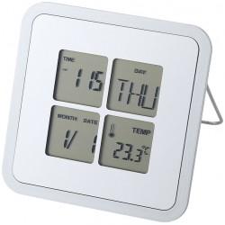 Настолен часовник с календар и термометър