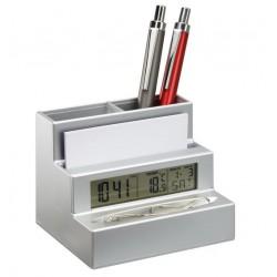 Поставка за химикалки с часовник