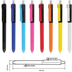 Рекламна пластмасова химикалка с възможност за брандиране на клипса