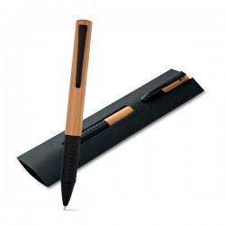 Бамбукова еко химикалка в картонено калъфче Bach