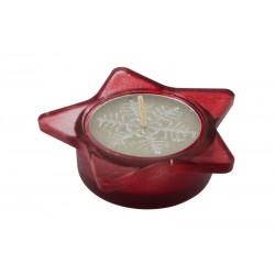 Коледен стъклен свещник в кутия