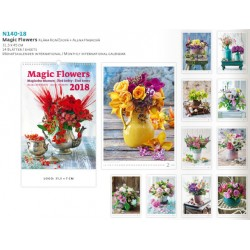 Луксозен многолистен календар Магически Цветя