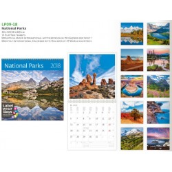 Луксозен 14 листов календар Национални Паркове 2018