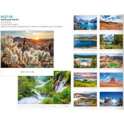 Рекламен 14 листов календар със спирала National Parks 2018