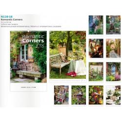 Романтичен многолистов календар Romantic Corners 2018