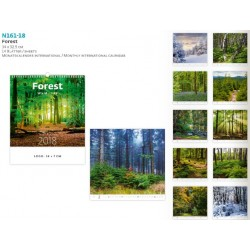 Многолистов рекламен календар Forest 2018