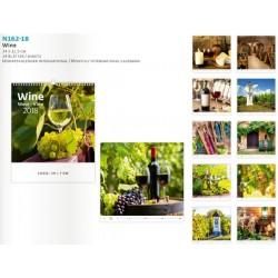 Рекламен календар 14 листа Вино 2018