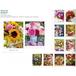 Рекламен календар с възможност за допечатване на лого Bouquet 2018