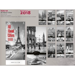 Луксозен календар All About Cities 2018