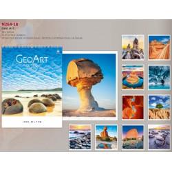 Рекламен многолистов календар Geo Art 2018