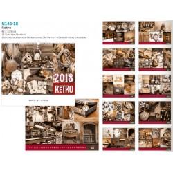 Многолистов рекламен календар Retro 2018