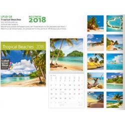 Многолистов календар Tropical Beaches 2018