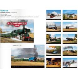 Луксозен календар със снимки на локомотиви 2018